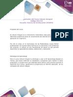 Presentación Del Curso Cálculo Integral I 2017