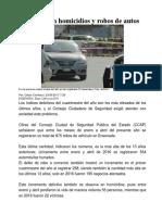Aumentan Homicidios y Robos de Autos en Ensenada