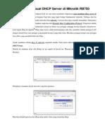 Cara Membuat DHCP Server Di Mikrotik RB750