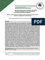 Metodologia de pesquisa para construção de modelo de apoio à decisão para a gestão de recursos naturais em empreendimentos turísticos