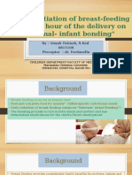 Effect of Initiation of Breast-feeding Within One Hour