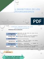 Control Inhibitorio de Los Microorganismos - Agentes Químicos