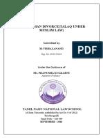 Talaq Under Muslim Law