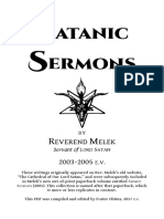 Satanic Sermons - Reverend Melek