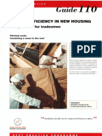 GPG110 Energy Efficiency in New Housing Site Practice for Tradesmen Pitched Roofs Insulating a Room in the Roof