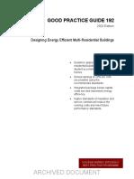 GPG192 Designing Energy Efficient Multi Residential Buildings