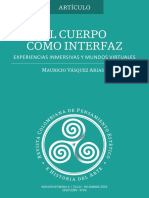 El Cuerpo Como Interfaz - Mauricio Vasquez Arias