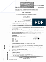 CAPE Pure Mathematics (2016) U2 P1 1