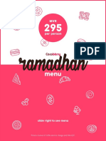 Cocoberry Ramadan Menu 2017