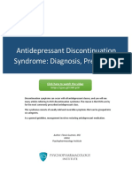 Antidepressant Discontinuation Syndrome