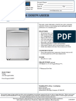 UC-900 Undercounter Dishwasher