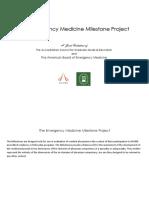 acgme emergency medicine milestones