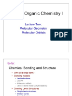 Organic Chemistry Lecture Two 2014 Bonding Models