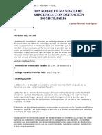 Apuntes Sobre El Mandato de Comparecencia Con Detención Domiciliaria