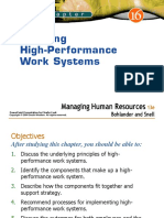 Creating High Performance Work Systems