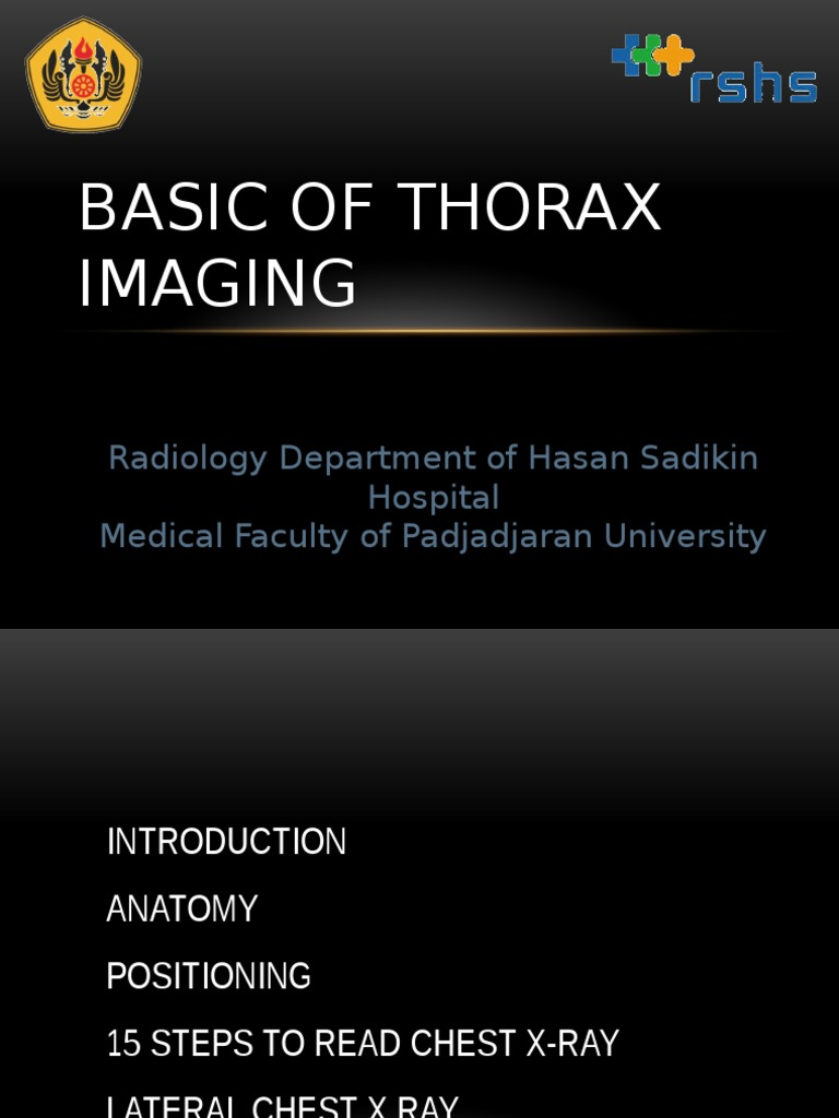Basic Of Thorax Imaging Respiratory Tract Lung