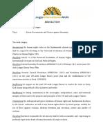 Arab League Resolution-JOINMUN2012