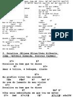 Gitaarakkoorden en Teksten Redelijk Makkelijke Bossa Nova's