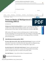 (MPLS) _ Sysnet Notes