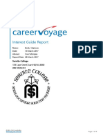 career voyage report