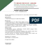 Surat Keputusan Direktur Utama Pt.bma