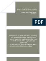Decision Making - Engineering Management