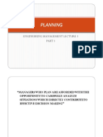 Planning - Engineering Management