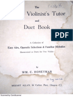 The Young Violinist's Tutor and Duet Book by W C Honeyman