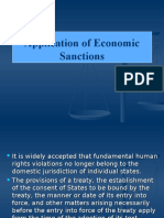 Application of Economic Sanctions