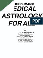 Jyotish K.P. Medical Astrology