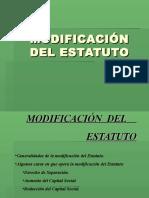 Modificacion Del Estatuto