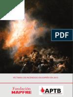 Informe Victimas Incendios España 2015