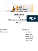 Account Term Paper