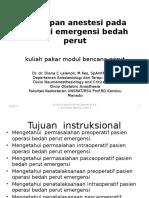 4. Dr Dr D C Lalenoh MKes SpAnKNA KAO-Kul Pakar Bencana Perut 1-5-14