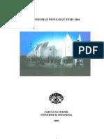 pedoman format tesis ui