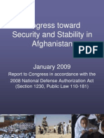 Progress Toward Security and Stability in Afghanistan - Jan 09