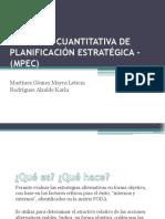LA MATRIZ CUANTITATIVA DE PLANIFICACI+ôN ESTRAT+ëGICA - (