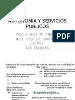 Apunte 6 Autonomia y Servicios Publicos