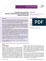 Psychopathology and Psychiatric Disorders in Psychiatric Outpatients With Migraine Headache 2
