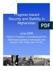 Progress Toward Security and Stability in Afghanistan - Jun 09