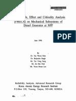 FMEA - Diesel Generator