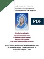 Voici Les Mots de Communion Que Marie Nous Offre - 28 Mai 2017