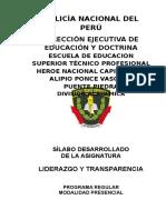 SILABO LIDERAZGO Y TRANSPARENCIA  2017 CONDO.doc