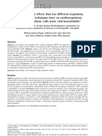 Comparison of the effects that two different respiratory physical therapy techniques have on cardiorespiratory parameters in infants with acute viral bronchiolitis