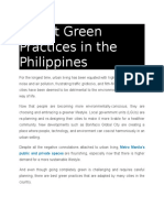 4 Best Green Practices in the Philippines