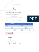 Determinación Del Calor de Reacción Teórico