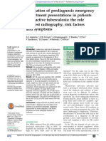 Evaluation of Prediagnosis Emergency Department Presentations in Patients With Active Tuberculosis- The Role of Chest Radiography, Risk Factors and Symptoms