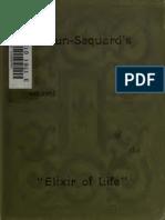 Elixir of Life-Brown Sequard
