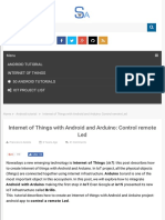 Internet of Things With Android and Arduino