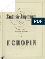 F.chopin Fantasie Impromptu First Published Edition